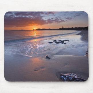 Sunset Beach Scene Mouse Pad