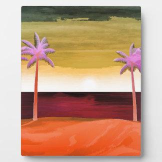 Sunset Beach Scene Plaque