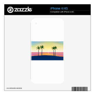 Sunset Beach Scene iPhone 4 Skin