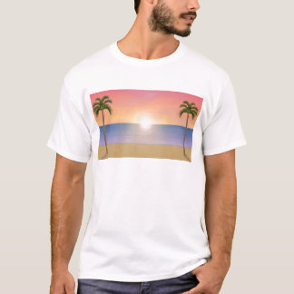 Sunset Beach Scene: T-Shirt