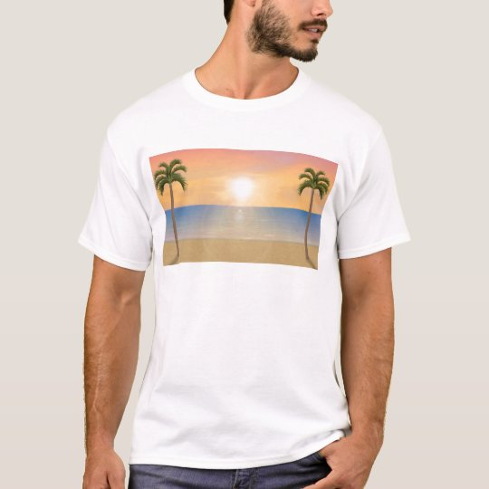 Sunset Beach Scene: T-Shirt