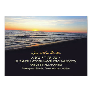 sunset beach sea SAVE THE DATE CARDS