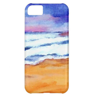 Sunset Beach Surf Ocean Waves Decor Gifts Art Cover For iPhone 5C