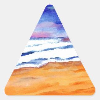 Sunset Beach Surf Ocean Waves Decor Gifts Art Sticker