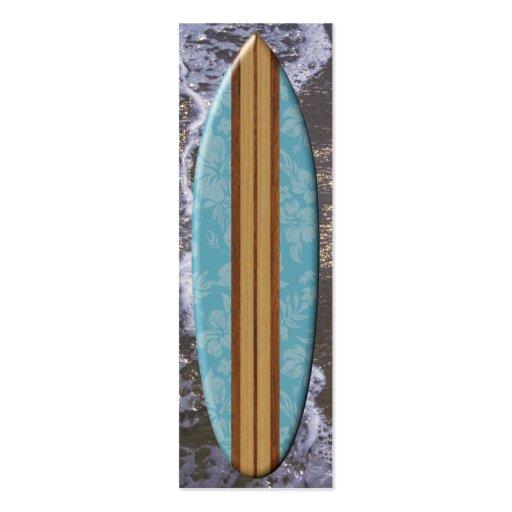 Sunset Beach Surfboard Bookmark Business Cards