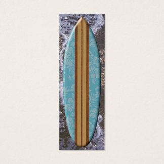 Sunset Beach Surfboard Bookmark Mini Business Card