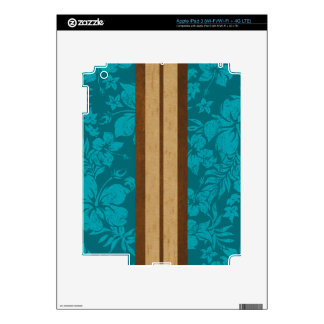 Sunset Beach Surfboard iPad 3 or Tablet Skin iPad 3 Skin