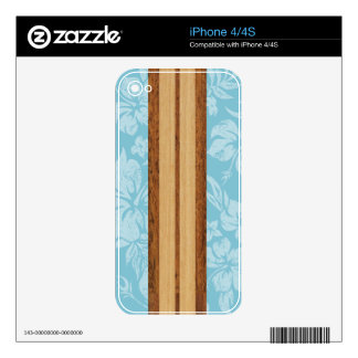 Sunset Beach Surfboard iPhone 4/4S Skin Skins For The iPhone 4