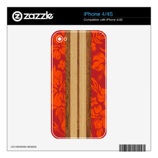 Sunset Beach Surfboard iPhone 4/4S Skin