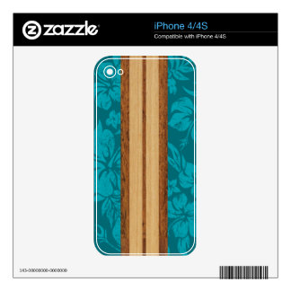 Sunset Beach Surfboard iPhone 4/4S Skin Skin For The iPhone 4S