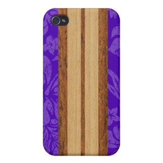 Sunset Beach Surfboard iPhone 4 Cases
