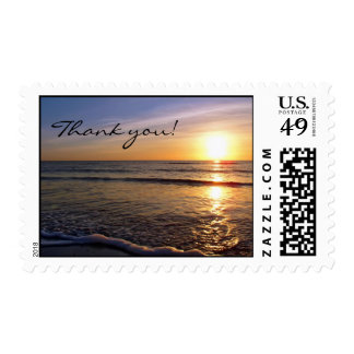 Sunset-Beach, Thank you! Stamp