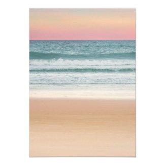 Sunset Beach Tropical Destination Wedding Invitation