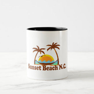 Sunset Beach. Two-Tone Coffee Mug