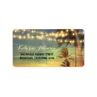 sunset beach wedding address labels