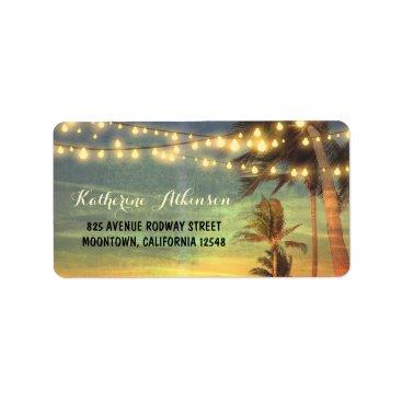 jinaiji sunset beach wedding address labels