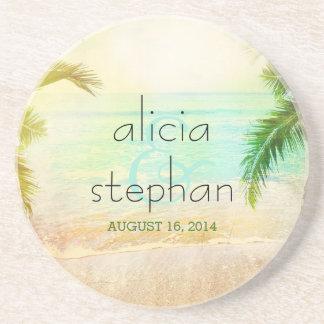 Sunset Beach Wedding Coaster