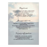 Sunset Beach Wedding Details- Information Card