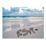 Sunset Beach Wedding RSVP Postcard
