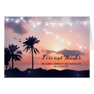 Sunset Beach Wedding Thank You Card