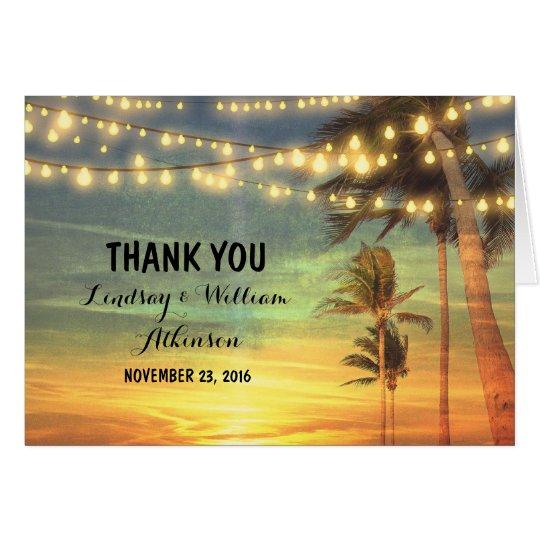 sunset beach wedding thank you cards – Zazzle Wedding Thank You Cards