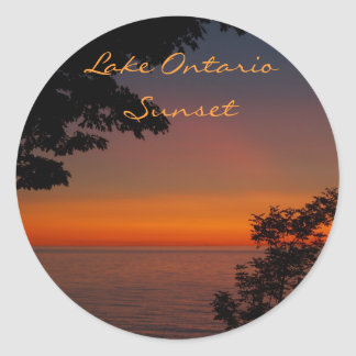 sunset beauty, Lake OntarioSunset, Photo by... Classic Round Sticker
