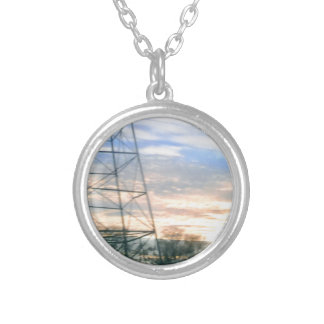 Sunset Beauty Silver Plated Necklace