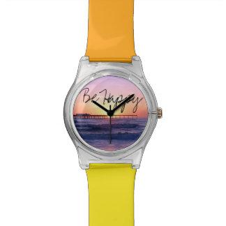 Sunset Behind a Pier Wristwatch