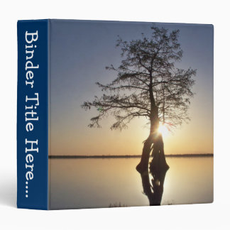 """Sunset Behind a Tree - 1.5"""" 3 Ring Binders"""