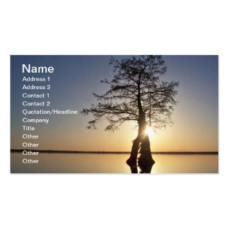 Sunset Behind a Tree Business Card Templates