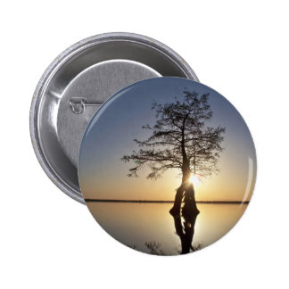 Sunset Behind a Tree Button