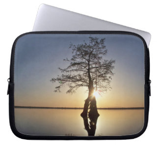 Sunset Behind a Tree Computer Sleeves