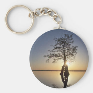 Sunset Behind a Tree Keychain
