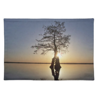 Sunset Behind a Tree Place Mat