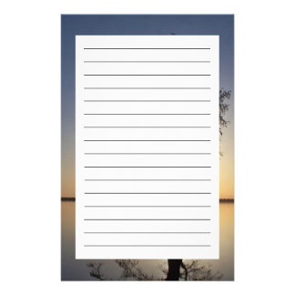 Sunset Behind a Tree Stationery Design