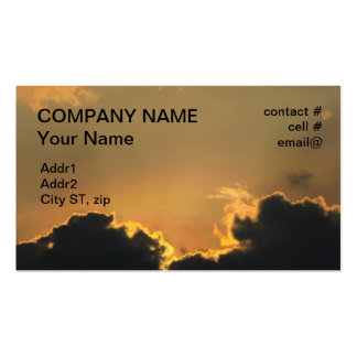 sunset behind low clouds business card