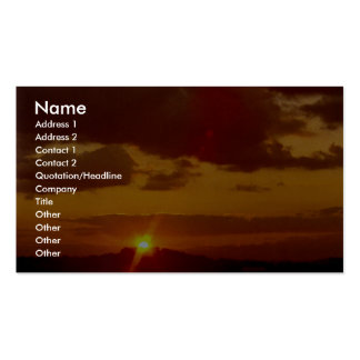 Sunset behind mountain Double-Sided standard business cards (Pack of 100)
