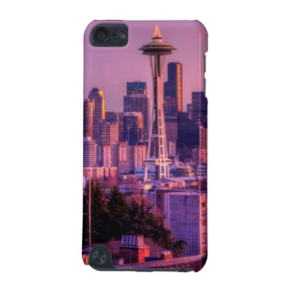 Sunset behind Seattle skyline from Kerry Park. iPod Touch 5G Cases
