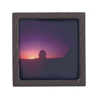 Sunset behind the Sphinx Keepsake Box