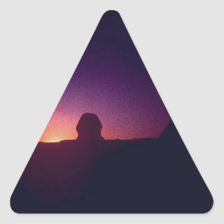 Sunset behind the Sphinx Triangle Sticker