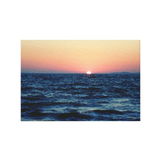 Sunset Below the Waves Canvas Print