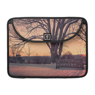 Sunset bench sleeve for MacBook pro