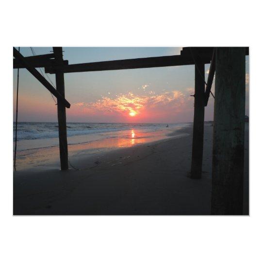 Sunset Beneath the Pier Card
