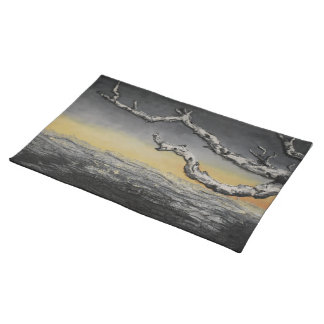 Sunset Beneath the Storm by Artist Alison Galvan Placemat