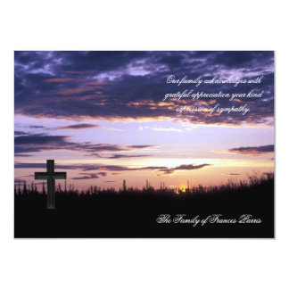 Sunset - Bereavement Thank You Notecard 4.5x6.25 Paper Invitation Card