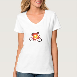 Sunset Bicycle Rider T-Shirt