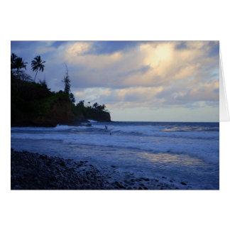 Sunset Big Island, Hawaii, Surfers Card