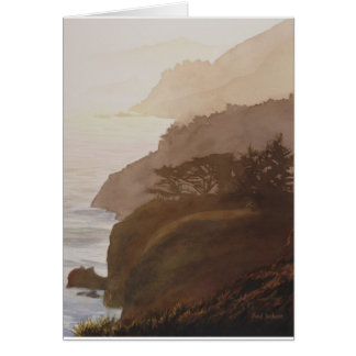Sunset Big Sur by Paul Jackson AWS, NWS Card