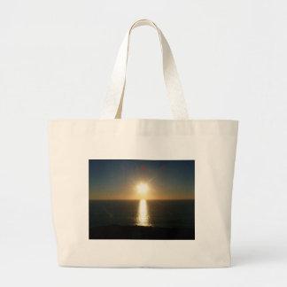 Sunset Bigbury On The Sea Jumbo Tote Bag