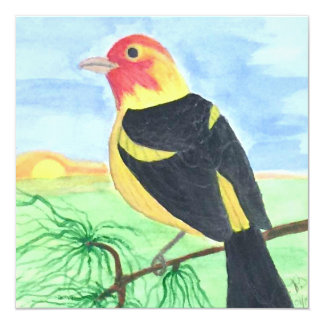 Sunset Bird Card